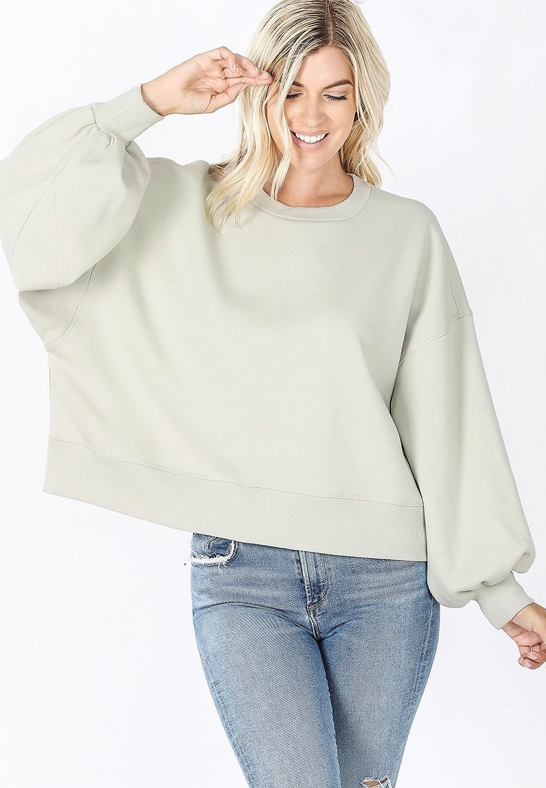 zondra balloon sleeve sweatshirt
