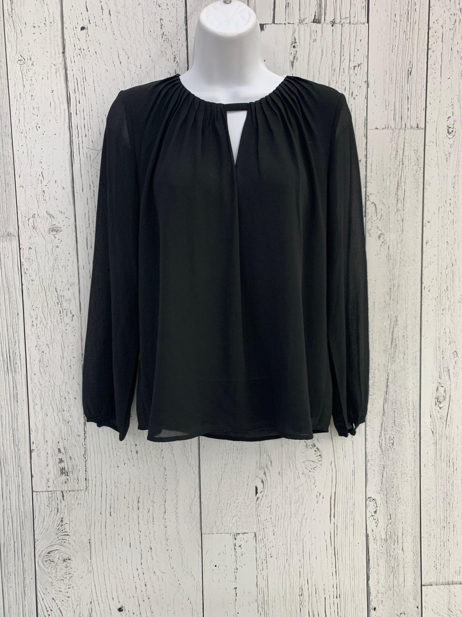 long sleeve pleated blouse