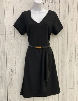 Nellie belted fit & flare dress
