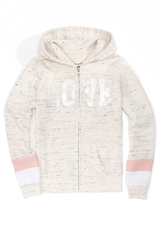 Rhea jr LOVE zip up hoodie
