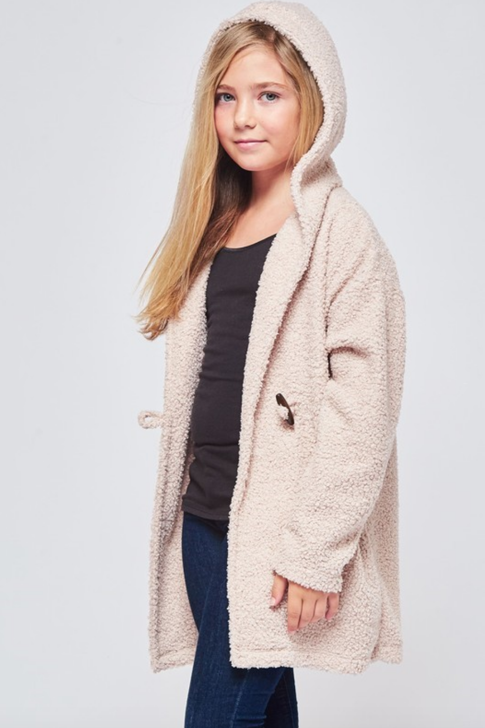 Gwen jr textured hooded cardigan