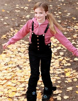 Camryn junior distressed overalls