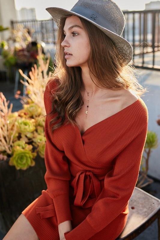 Mardi ribbed sweater dress