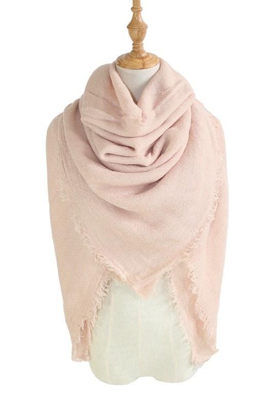 solid blanket scarf / shawl - blush