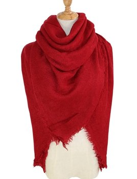 solid blanket scarf / shawl - red