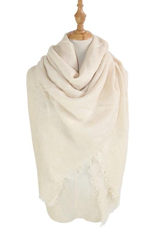 solid blanket scarf / shawl - beige