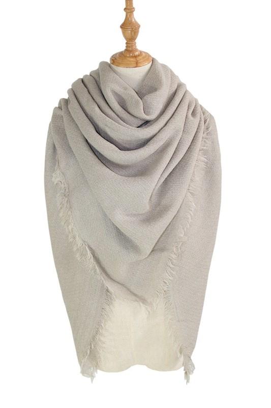 solid blanket scarf / shawl - grey