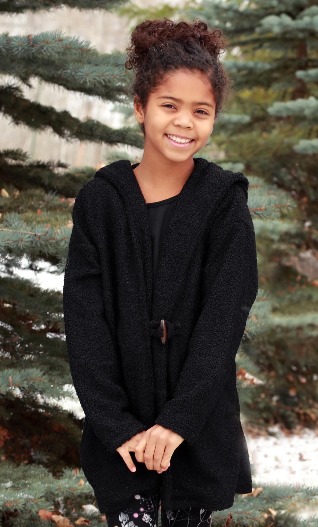 Gwen jr textured hooded cardigan