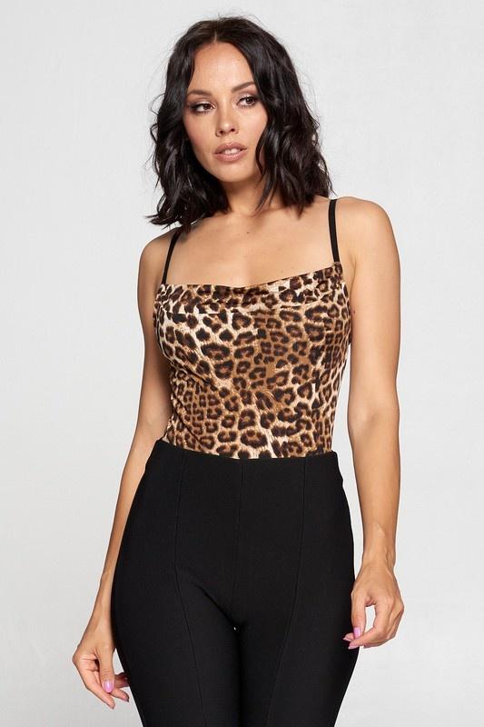 chocolate - Callie cowl neck bodysuit