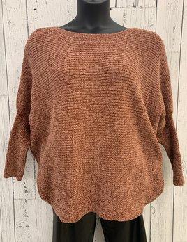 curvy balloon sleeve knit sweater