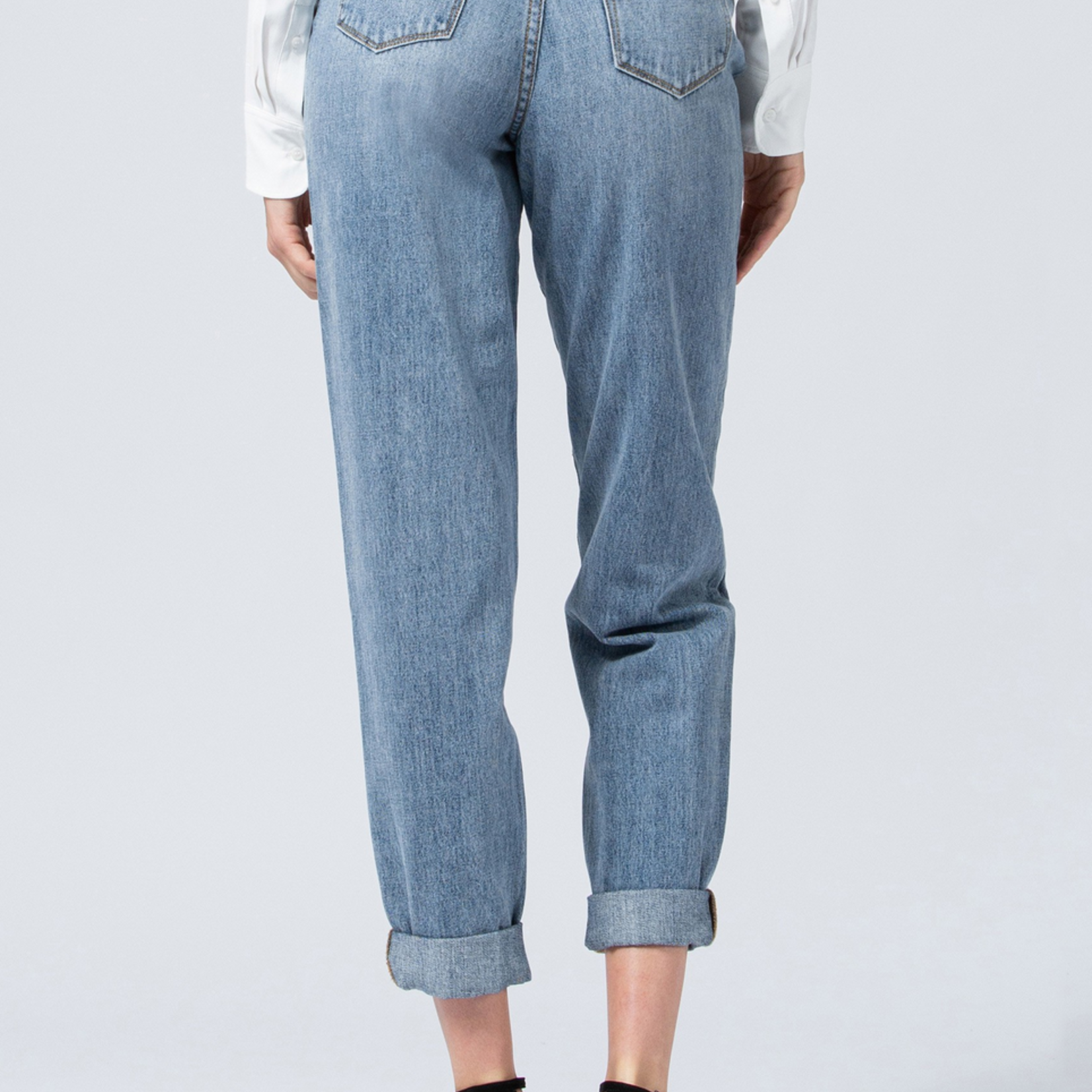 Victoria rolled cuff mom jeans