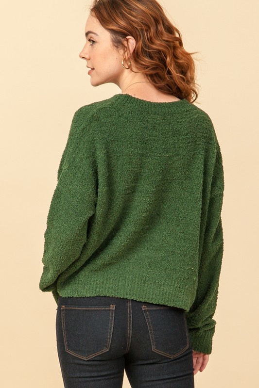 Harp drop sleeve sweater
