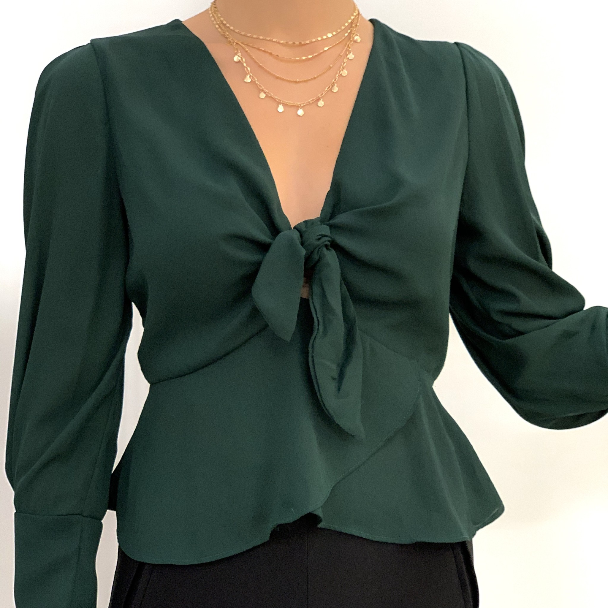 tulip peplum top