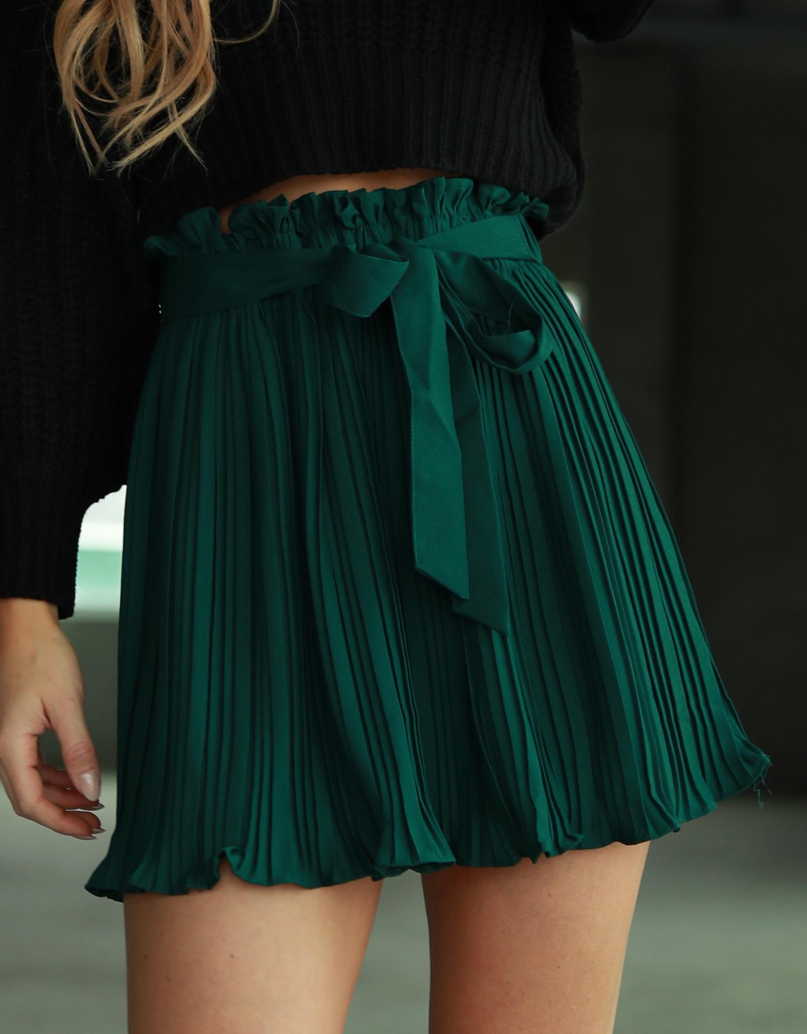 hibiscus pleated skirt
