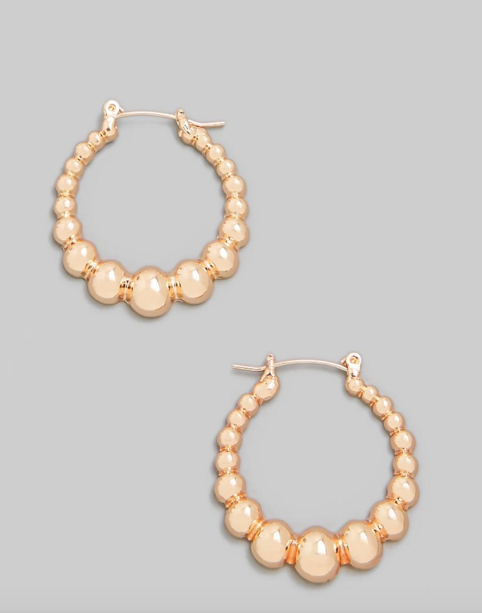 bubble hoop earring - gold