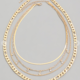 4 layer link necklace - gold