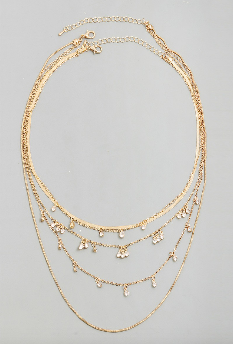 droplet necklace - gold
