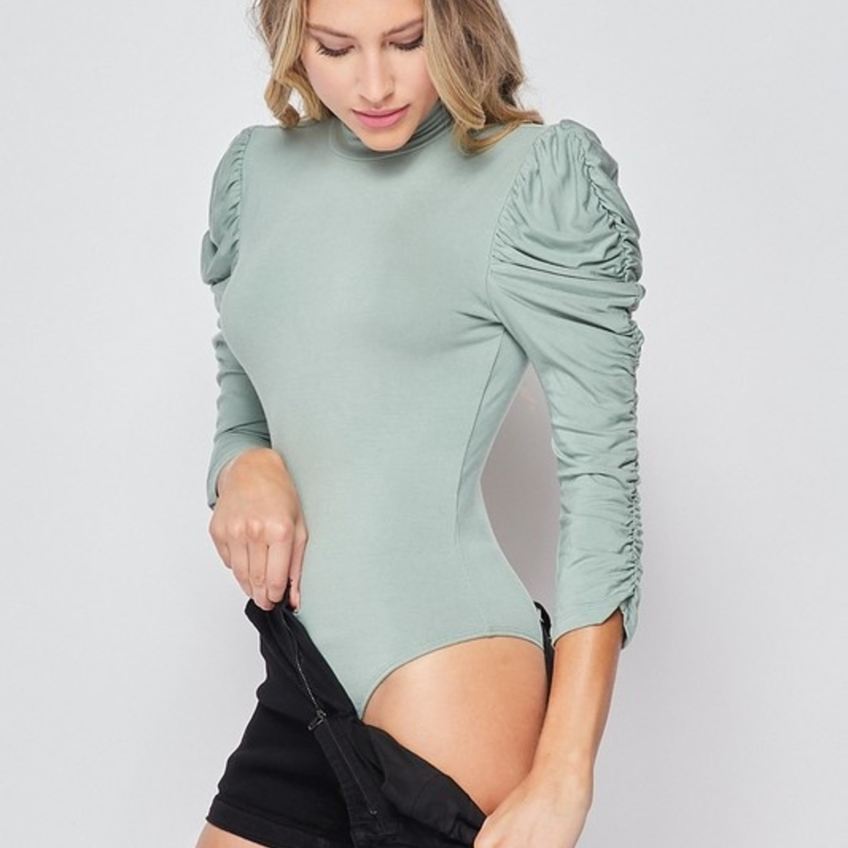 blessed puff sleeve bodysuit