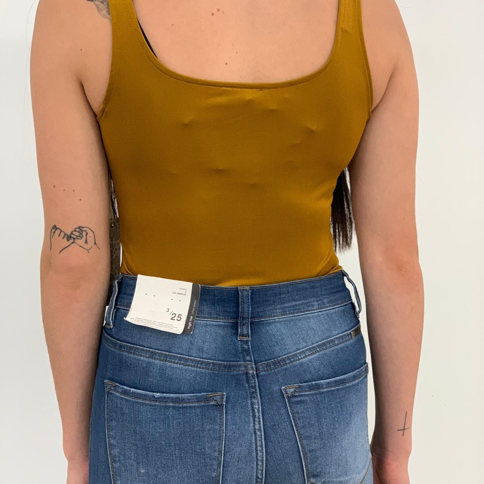 India square neck bodysuit