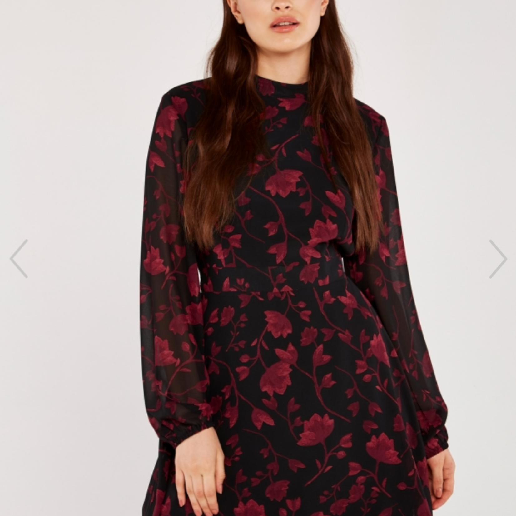 apricot - silhouette branches dress