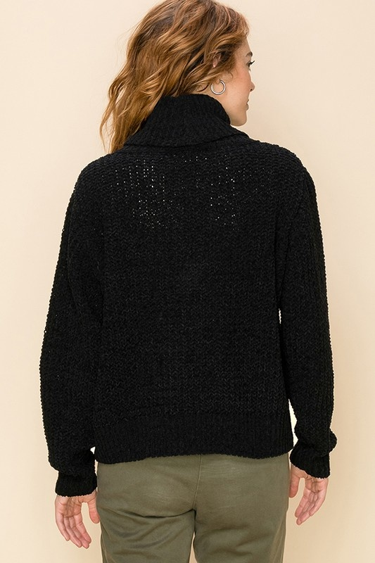 Harper chenille turtleneck sweater
