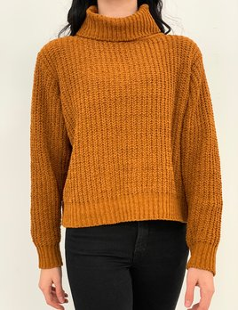 Harper chenille turtleneck sweater