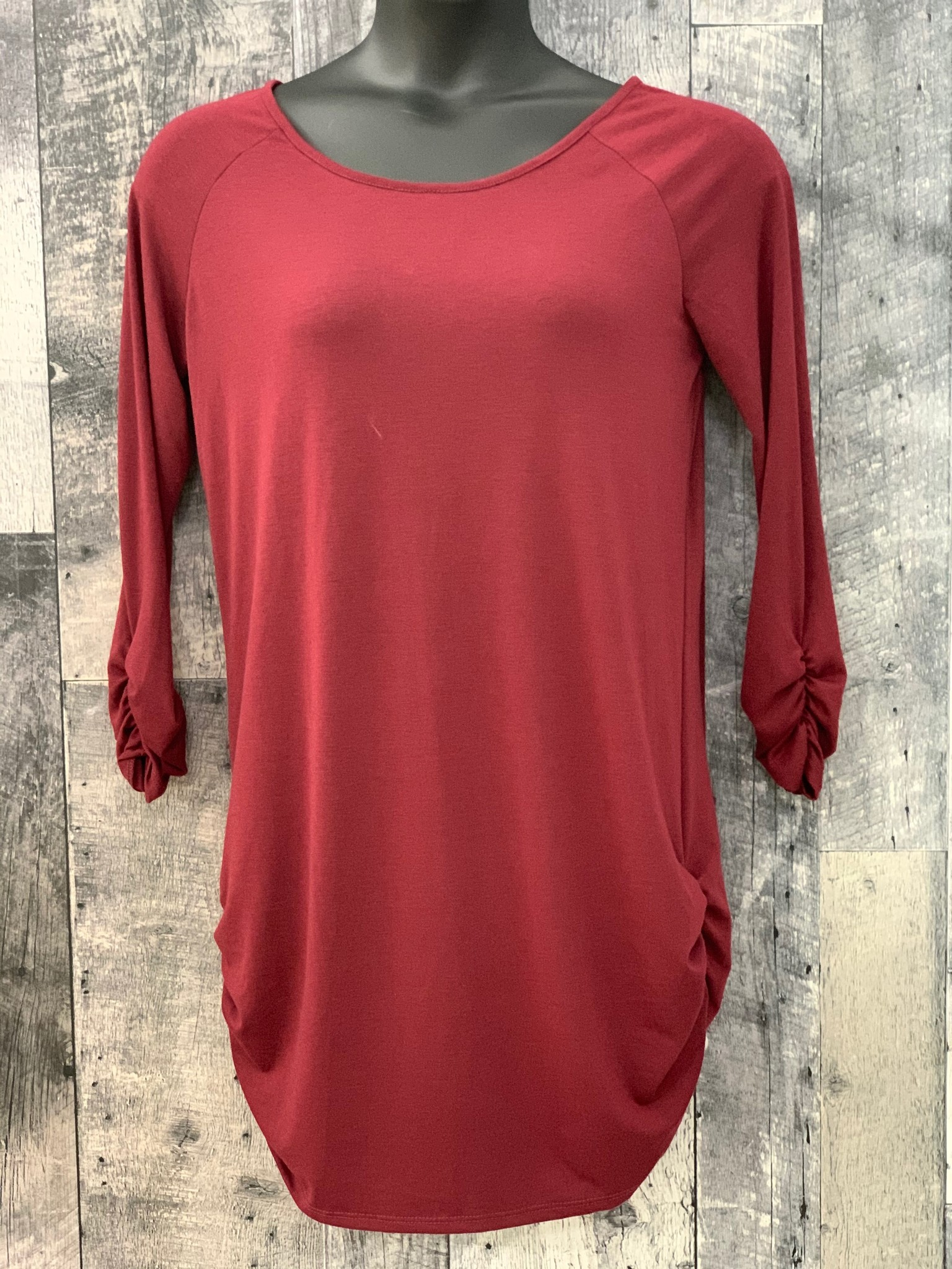 curvy ruched side tunic