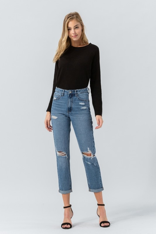 Valerie distressed mom jeans