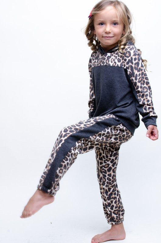 Mabel jr leopard  stripe jogger