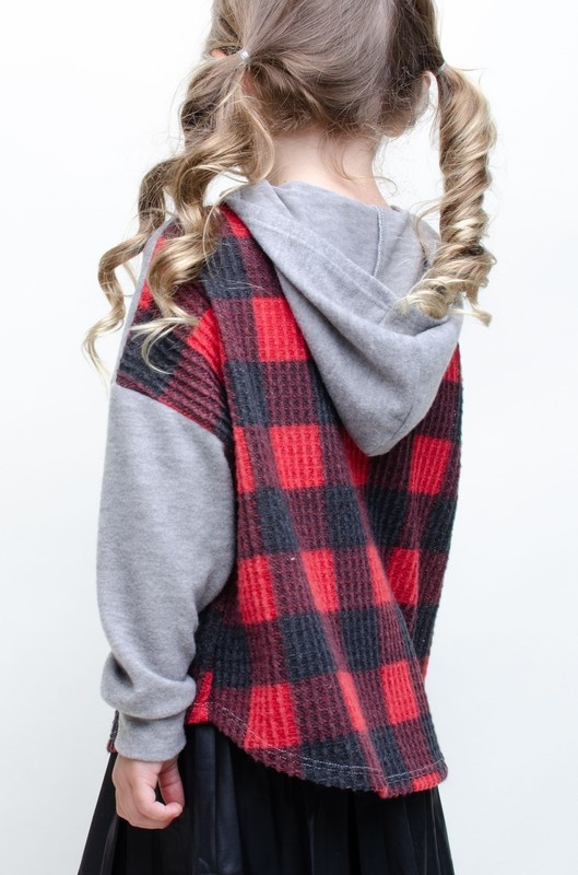 Mabel Jr buffalo plaid hoodie