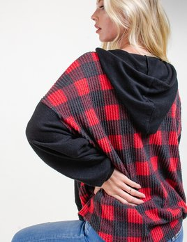 Mabel buffalo plaid hoodie