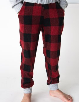 Mazi jr buffalo plaid joggers