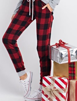 Mazi buffalo plaid jogger pants