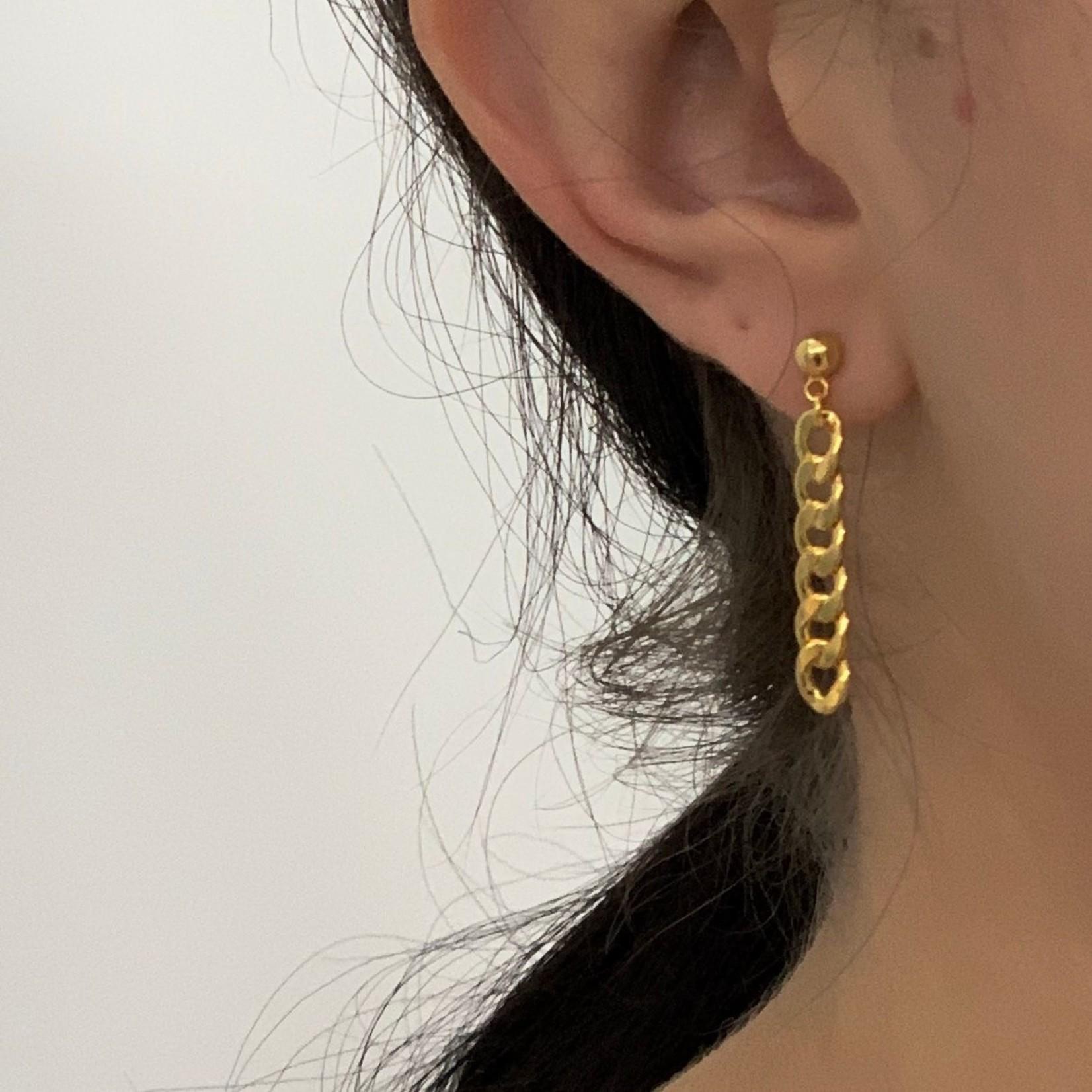 drop chain earring - gold