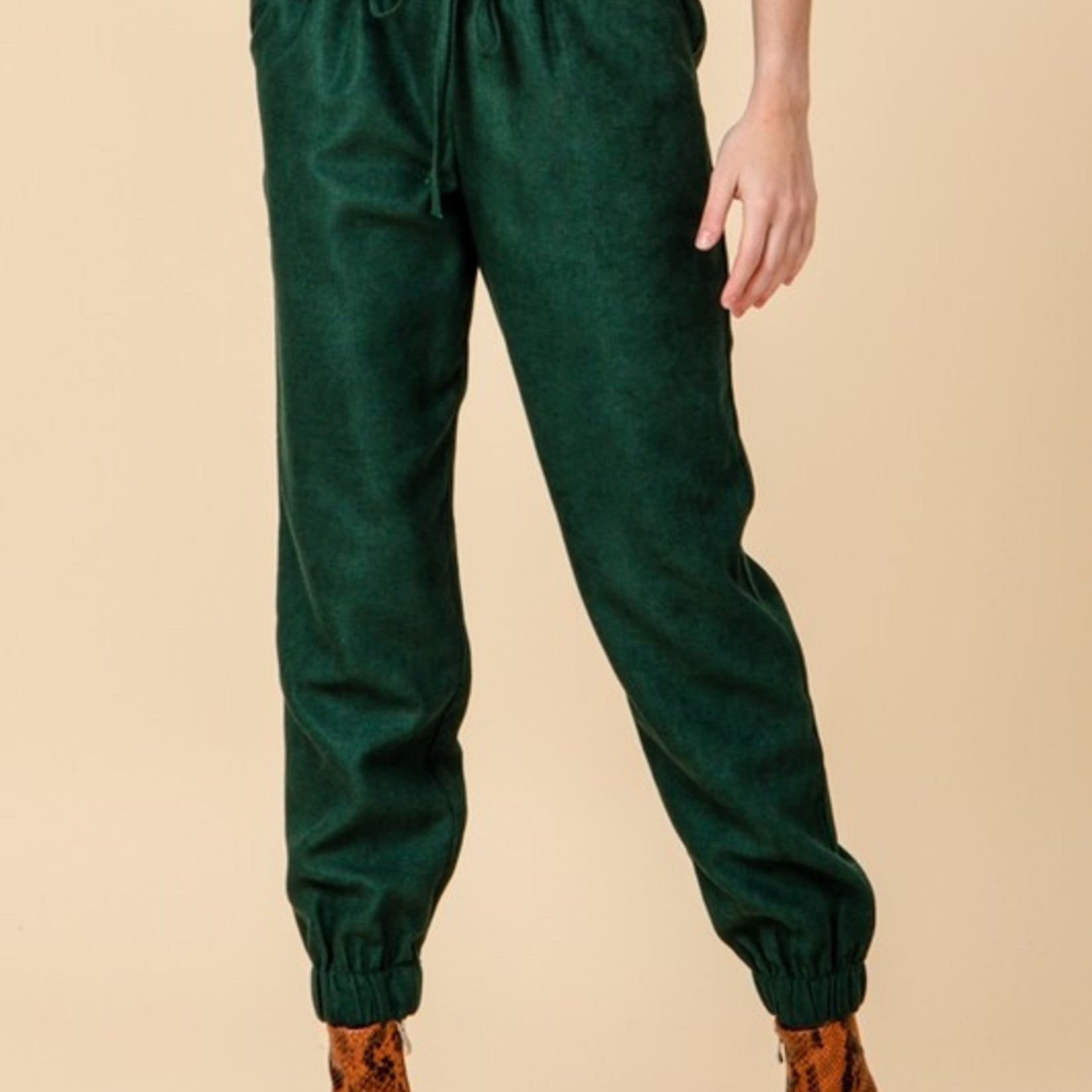 Hart faux suede joggers
