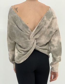May  twist knot sweater