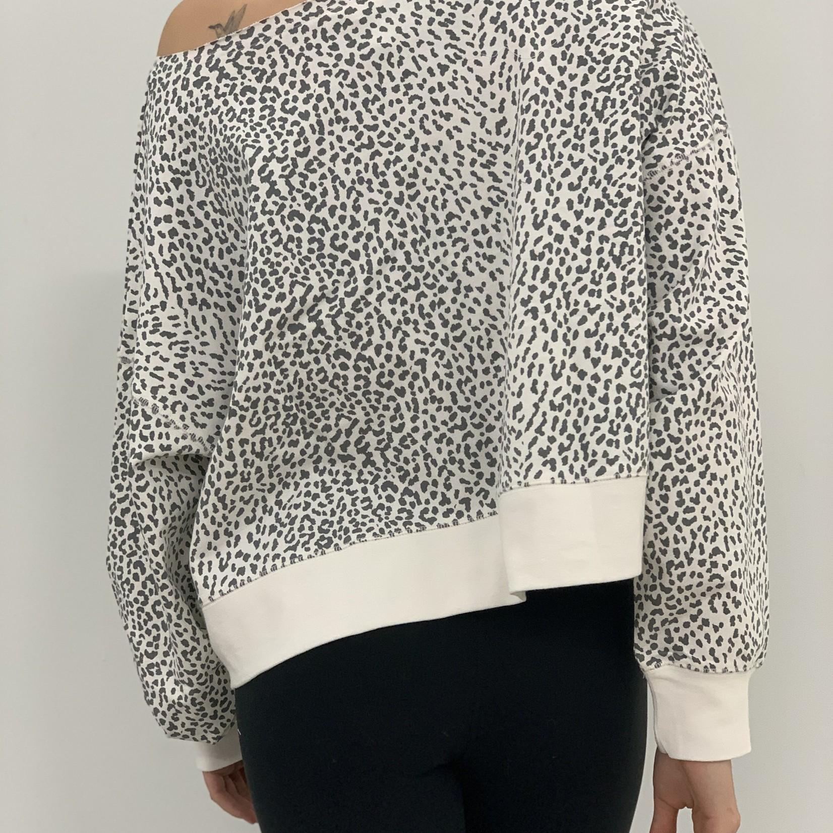 myla oversize leopard print sweatshirt