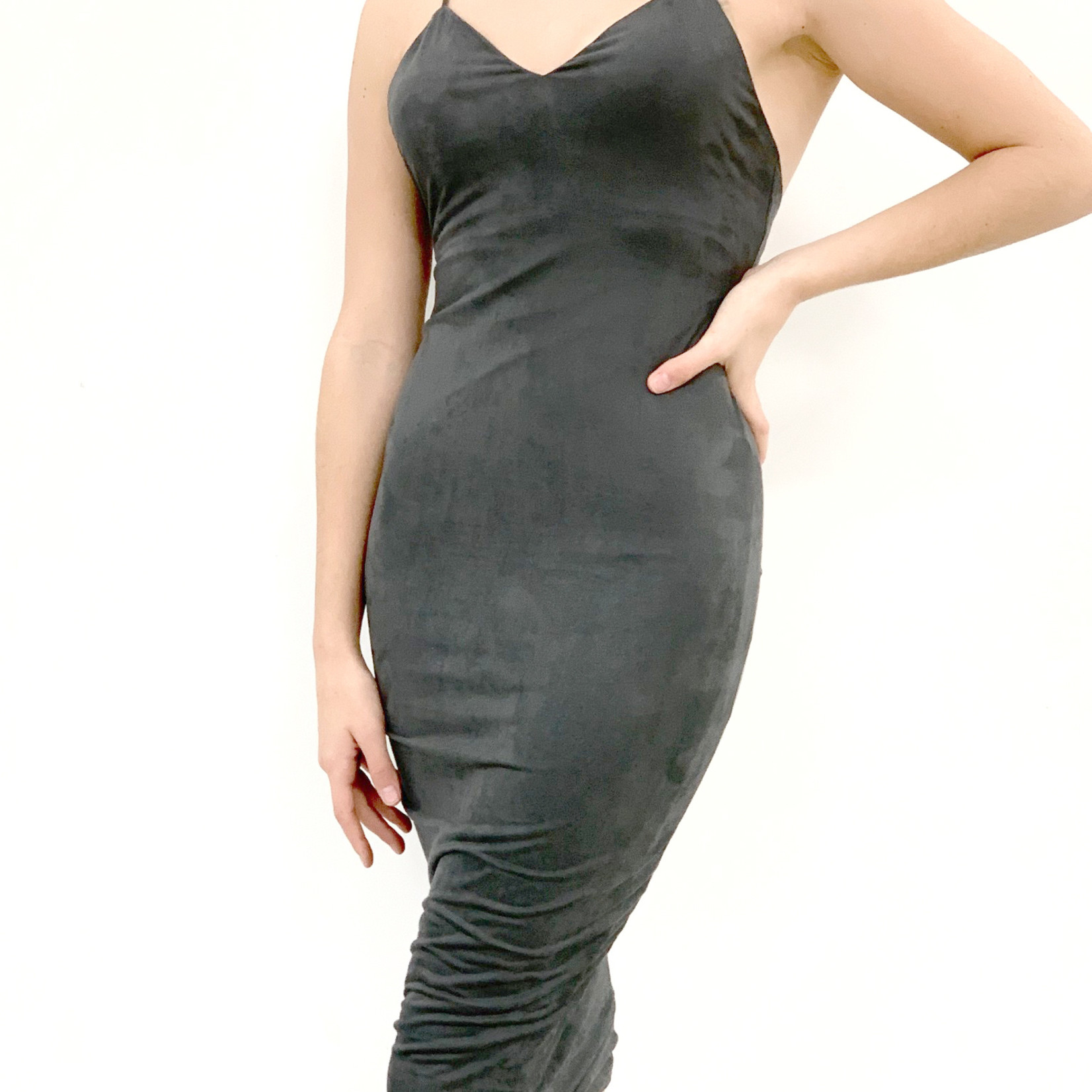 Leigh suede midi dress