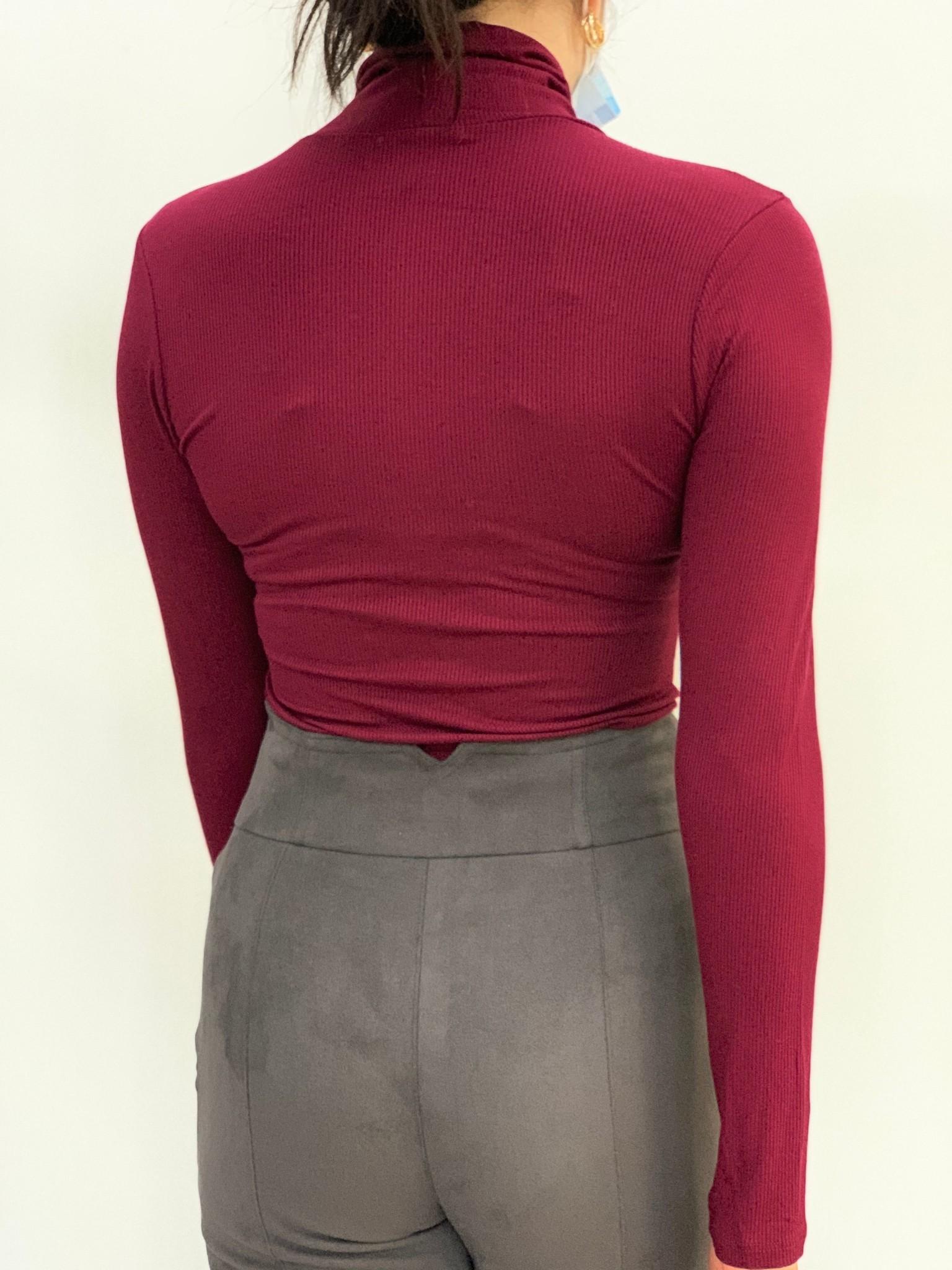 Brave turtleneck long sleeve bodysuit