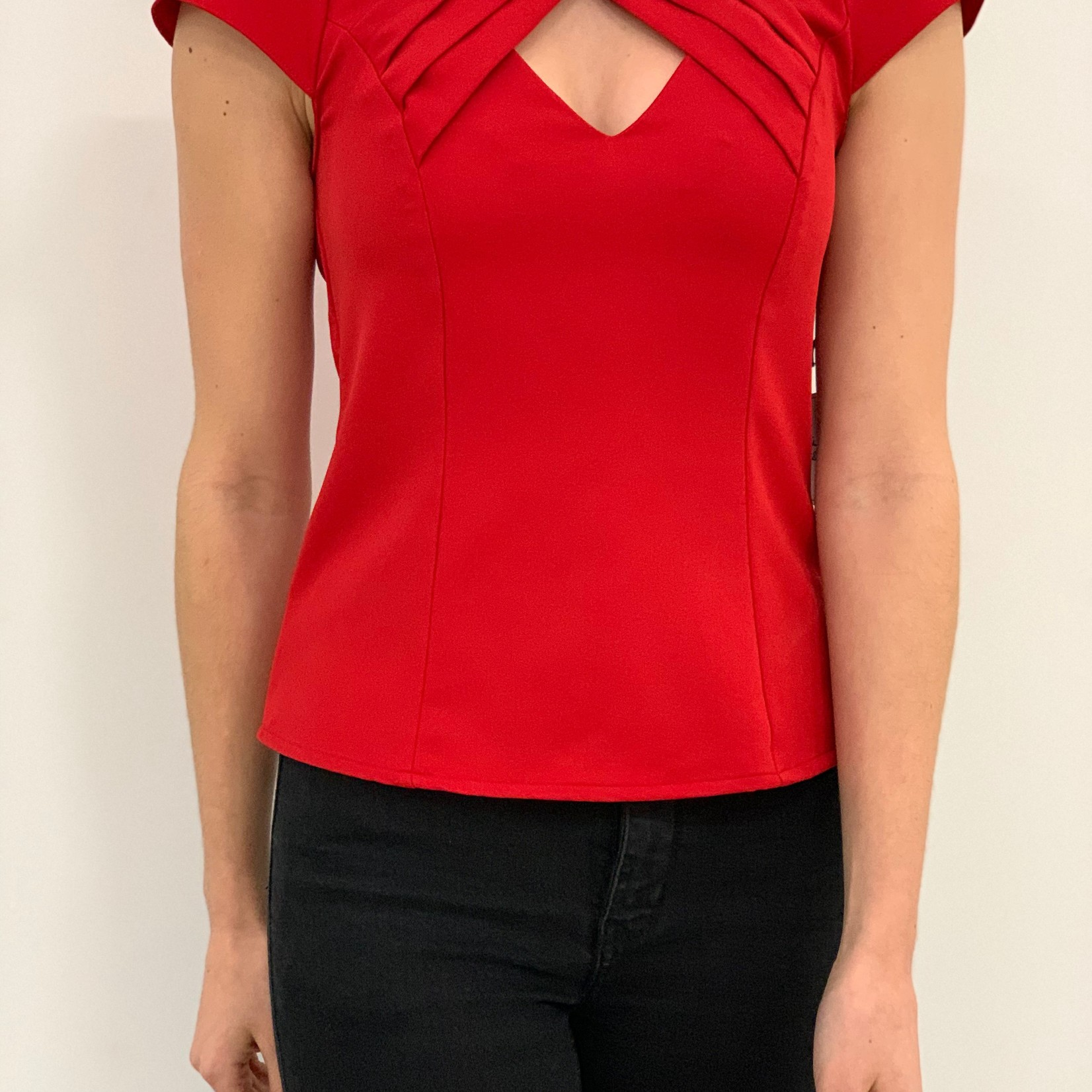 twisted neck top