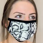 face mask - snake print