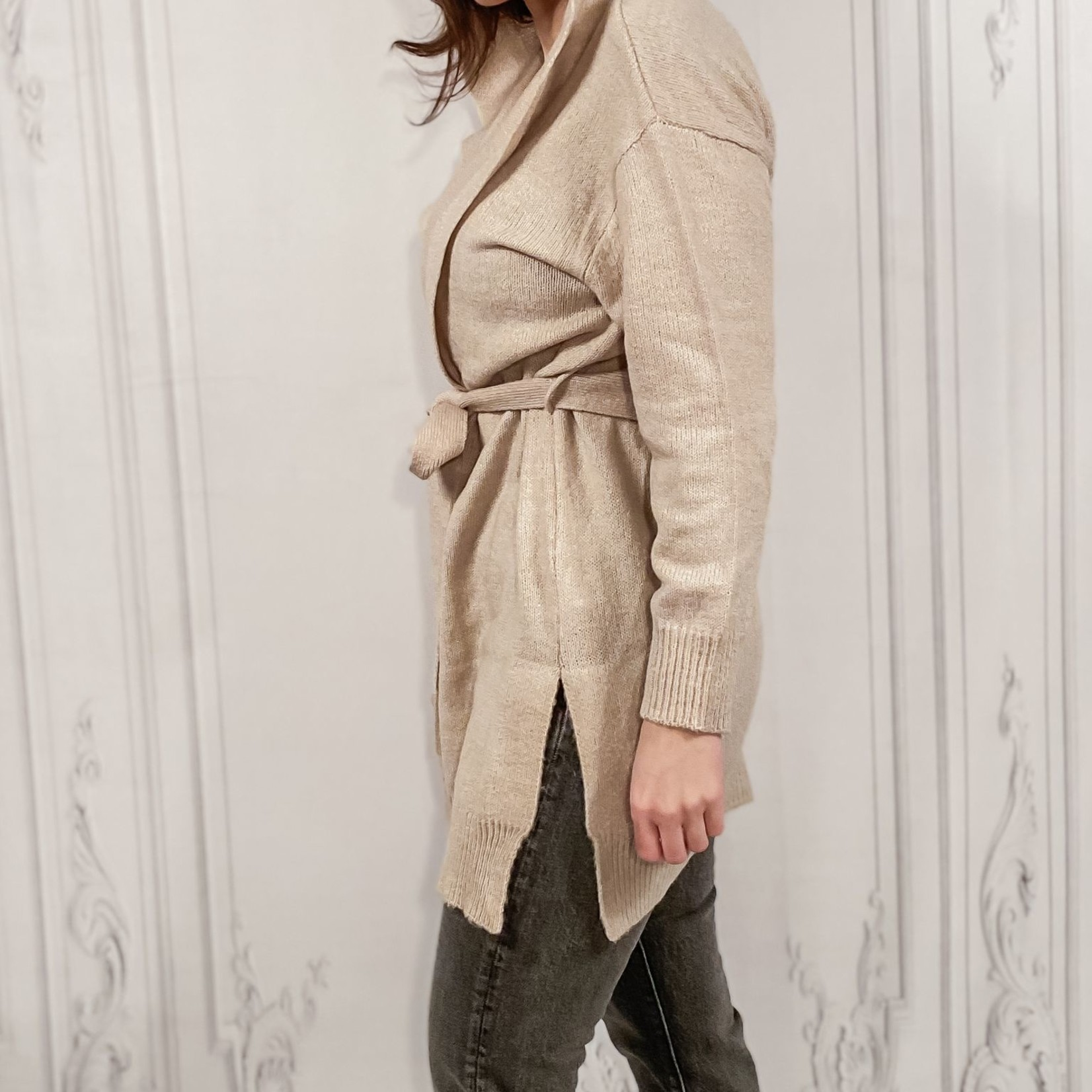 Heidi hooded belted sweater