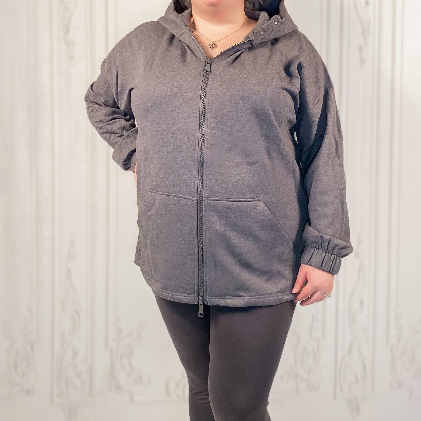 zenana - Zeta curvy zip up hoodie