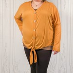Zia curvy button down top