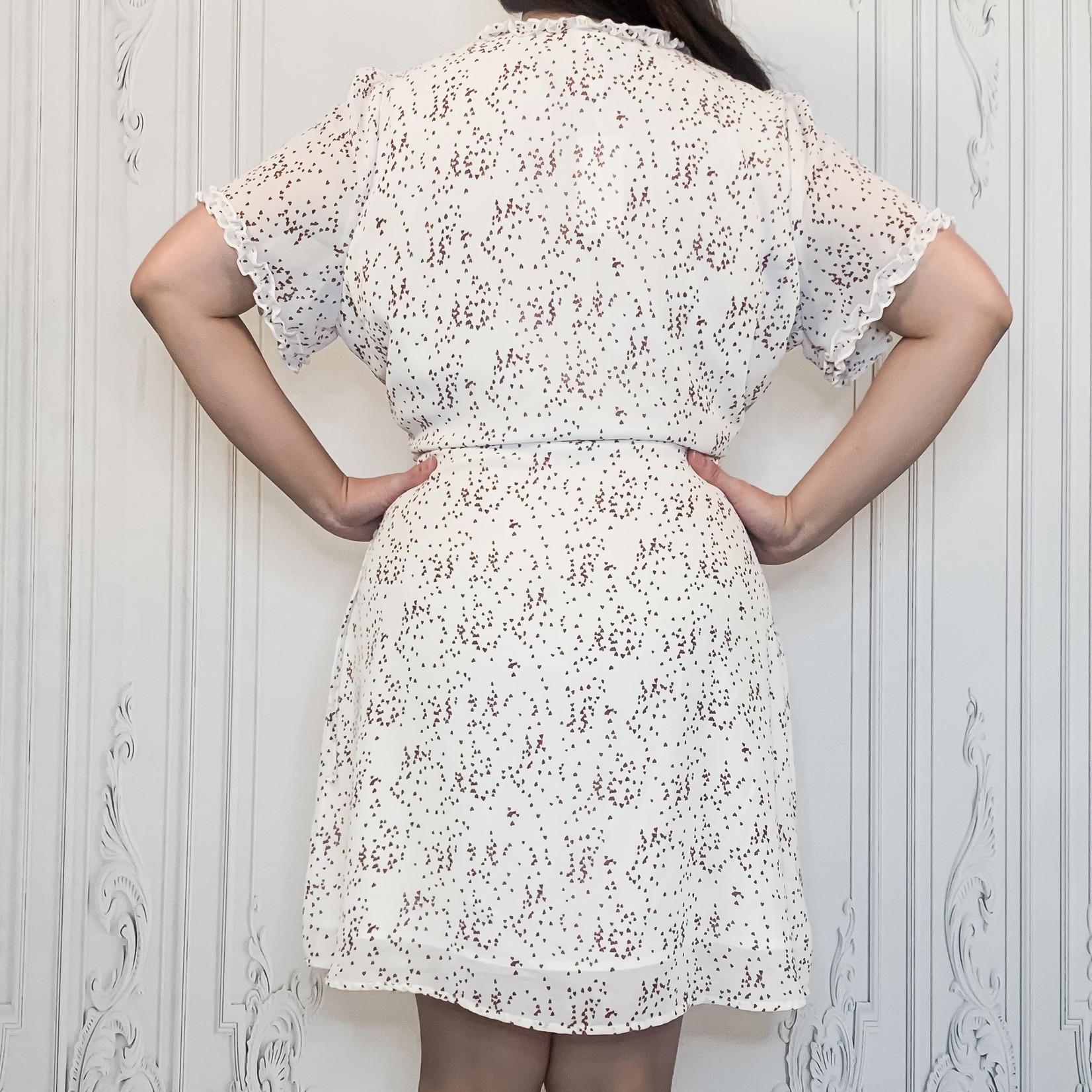curvy ruffled wrap dress