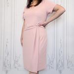 curvy cap sleeve midi dress