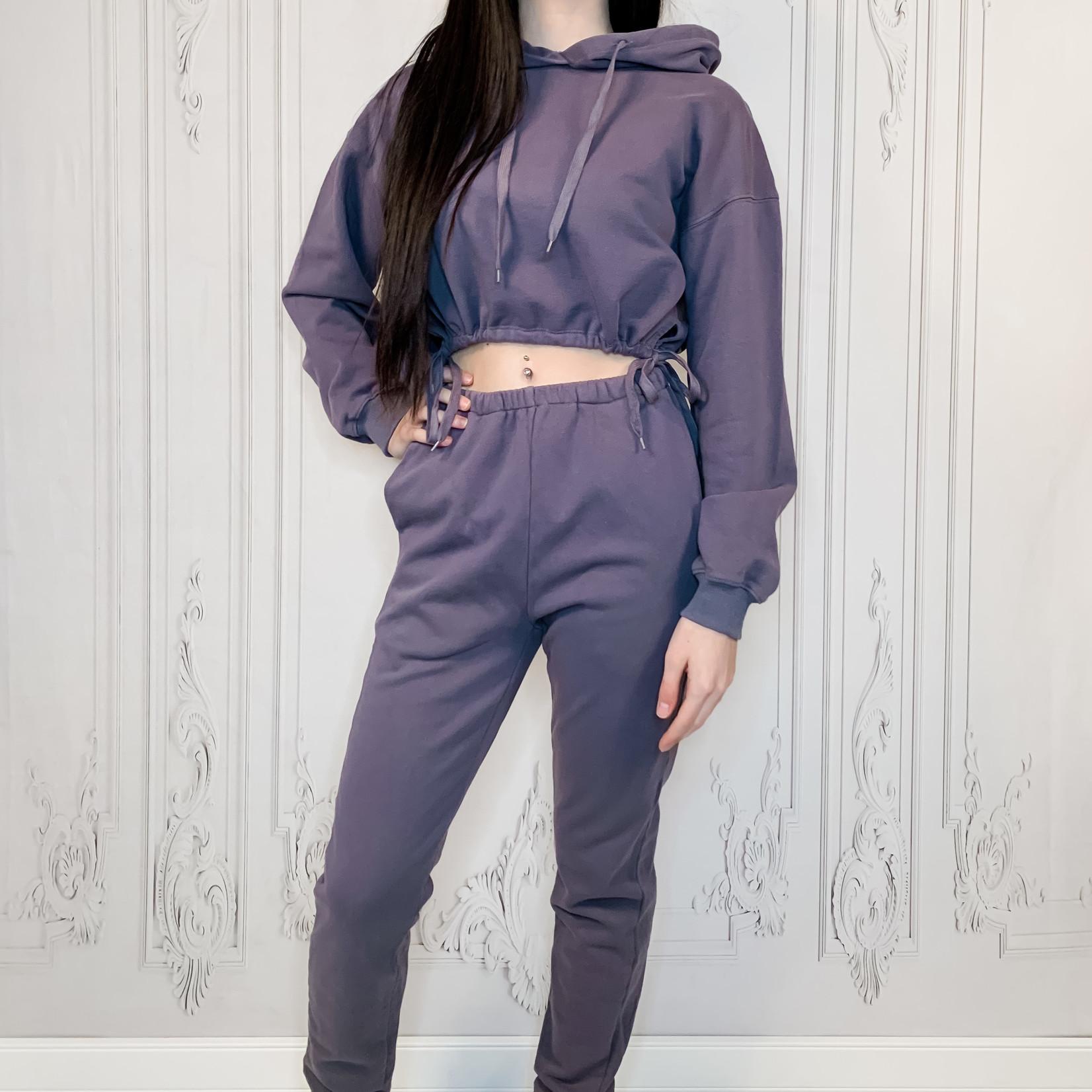 Hallie 2 pc crop hoodie suit