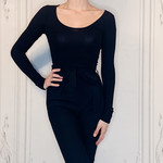 bueno  long sleeve scoop neck bodysuit