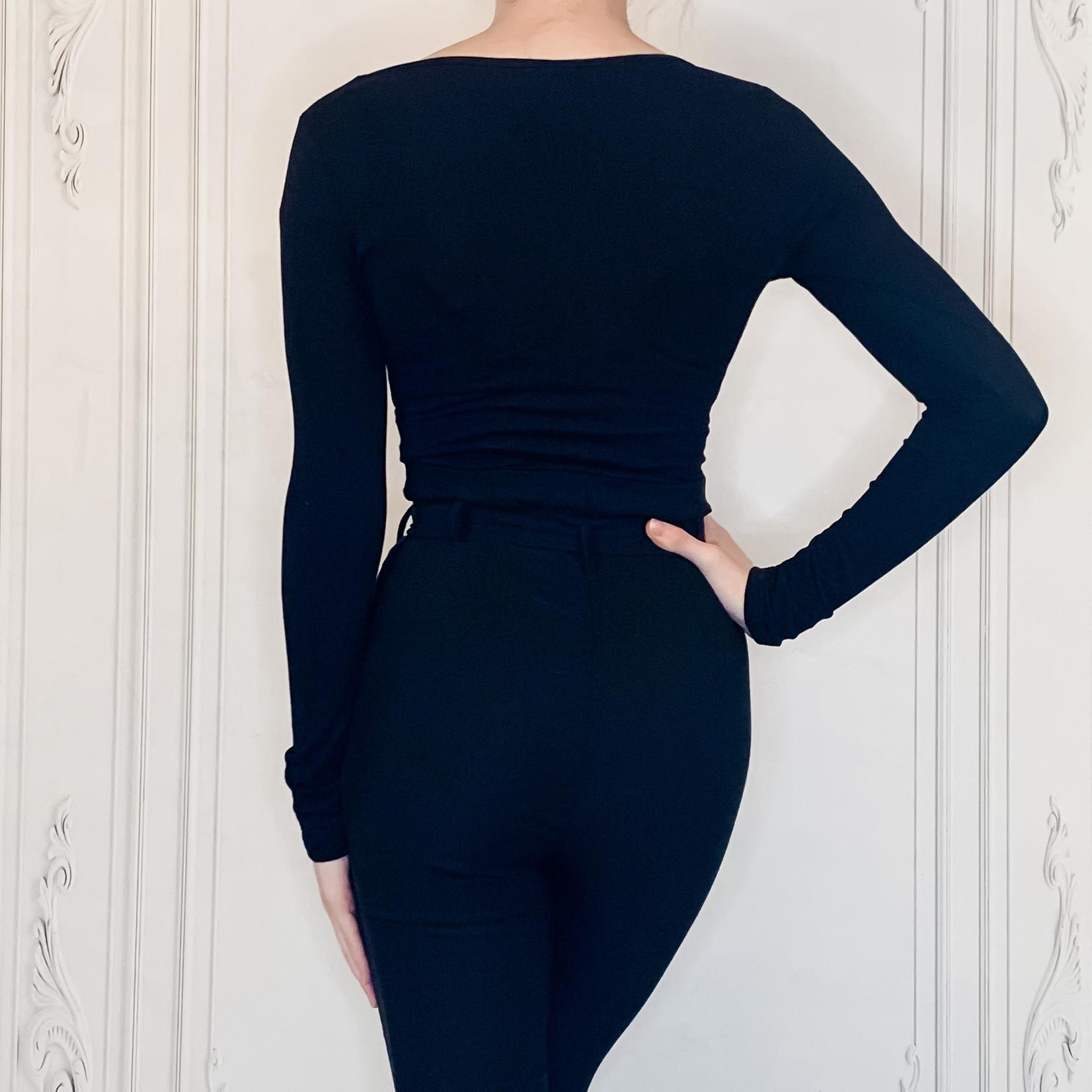 bueno  long sleeve scoop neck bodysuit