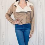 Helena sherpa trim jacket